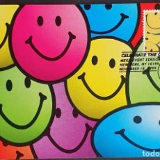 Sellos: TARJETA MÁXIMA USA - CELEBRACIÓN DEL SIGLO LOS 70´S: SMILES, SONSISAS, NEW YORK, NY 1999. Lote 244534660