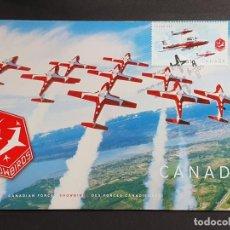 """Sellos: TARJETA MÁXIMA CANADA - AVIONES """"SNOWBIRDS"""" FUERZAS AÉREAS, ACROBACIAS, MOOSE JAW, SK 2006 I. Lote 244540835"""