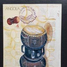 Sellos: TARJETA MÁXIMA ANGOLA - INSTRUMENTOS MUSICALES: MUCUPELA, LUANDA 1991. Lote 244914150
