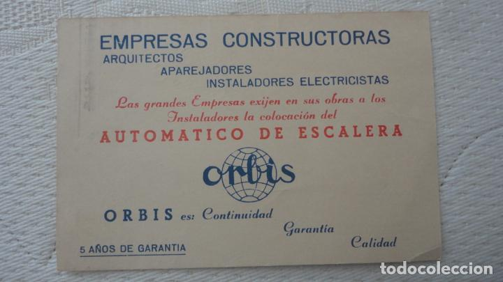 Sellos: ANTIGUA TARJETA.INDUSTRIAS ORBIS.TALLERES MECANICOS PRECISION.MADRID - Foto 2 - 245126540