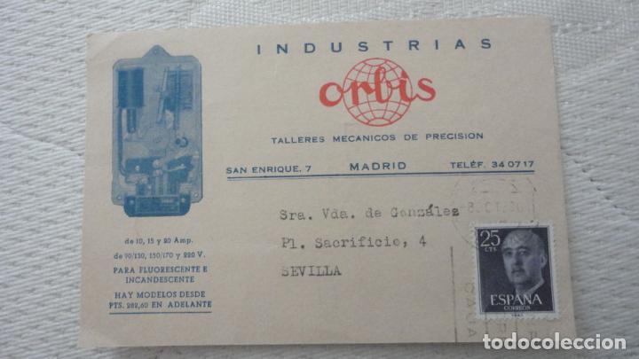 ANTIGUA TARJETA.INDUSTRIAS ORBIS.TALLERES MECANICOS PRECISION.MADRID (Sellos - España - Tarjetas)