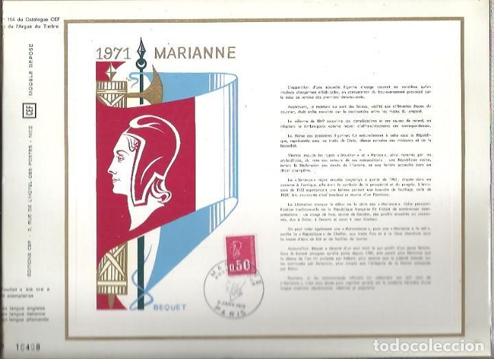 EDITIONS CEF Nº 154 1971 MARIANNE 2 JANV 1971 (Sellos - Extranjero - Tarjetas)