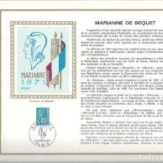 Sellos: EDITIONS CEF Nº 157 MARIANNE DE BEQUET 6 FEVRIER 1971. Lote 245880520