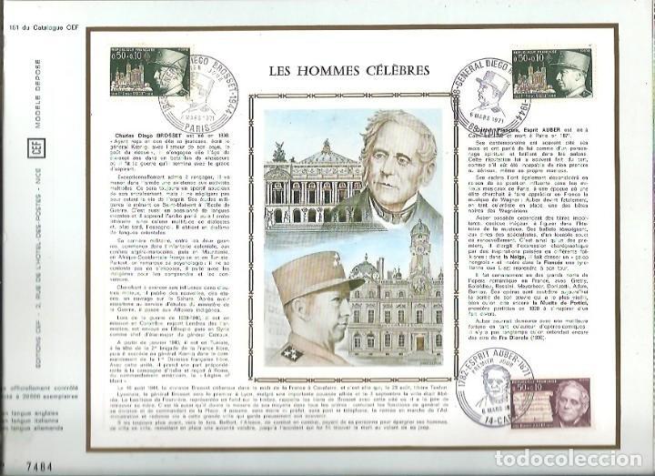 EDITIONS CEF Nº 161 LES HOMMES CELEBRES 1971 (Sellos - Extranjero - Tarjetas)
