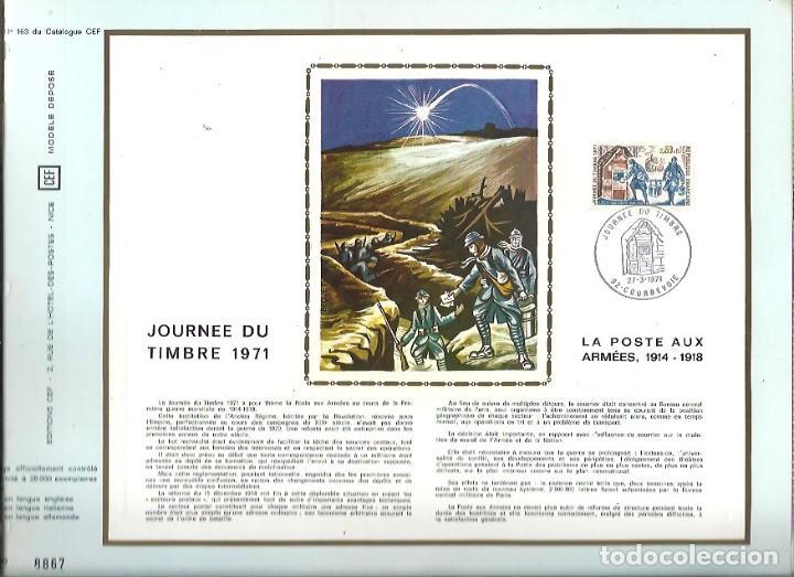 EDITIONS CEF Nº 163 JOURNEE DU TIMBRE 1971 LA POSTE AUX ARMEES 1914 1918 (Sellos - Extranjero - Tarjetas)