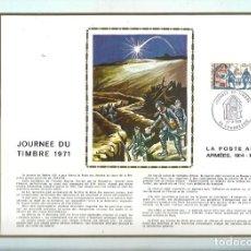 Sellos: EDITIONS CEF Nº 163 JOURNEE DU TIMBRE 1971 LA POSTE AUX ARMEES 1914 1918. Lote 245883205