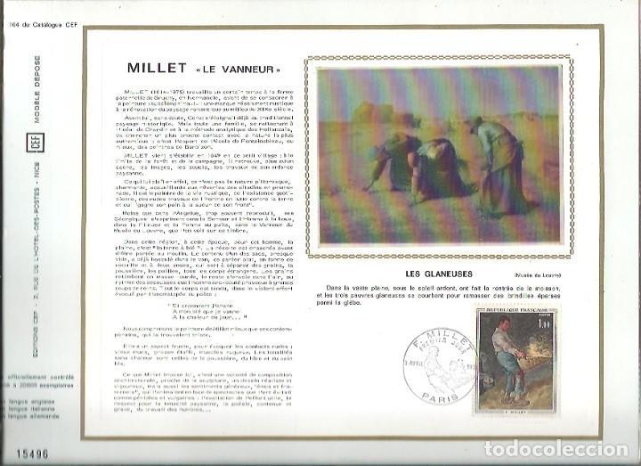 EDITIONS CEF Nº 164 MILLET LE VANNEUR LES GLANEUSES 1971 (Sellos - Extranjero - Tarjetas)