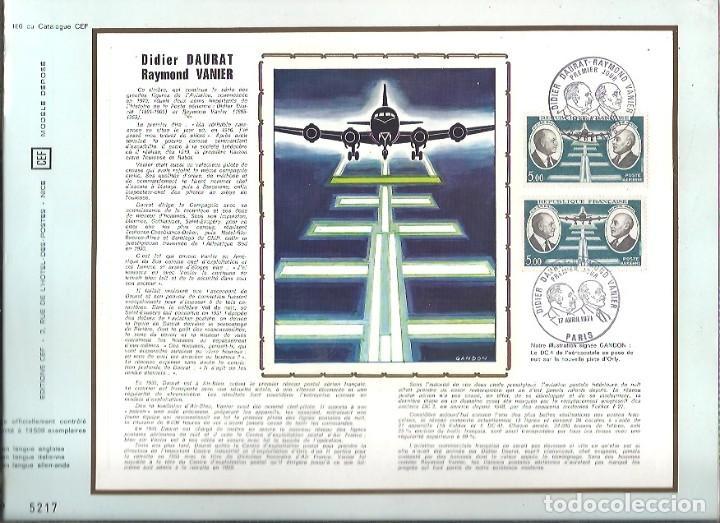 EDITIONS CEF Nº 166 DIDIER DAURAT RAYMOND VANIER 1971 (Sellos - Extranjero - Tarjetas)