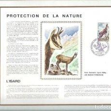 Sellos: EDITIONS CEF Nº 167 PROTECTION DE LA NATURE L'ISARD 1971. Lote 245884605