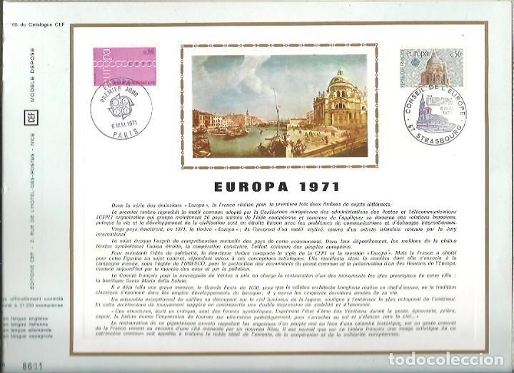 EDITIONS CEF Nº 168 EUROPA 1971 (Sellos - Extranjero - Tarjetas)