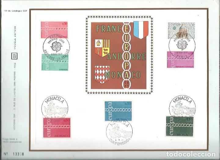 EDITIONS CEF Nº 169 EUROPA FRANCE ANDORRE MONACO 1971 (Sellos - Extranjero - Tarjetas)