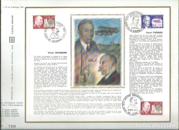 EDITIONS CEF Nº 171 VICTOR GRIGNARD 1971 (Sellos - Extranjero - Tarjetas)