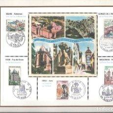 Sellos: EDITIONS CEF Nº 175 SERIE TOURISTIQUE 1971 SEDAN RIOM DOLE GORGES DE L'ARDECHE RIQUEWIHR. Lote 245890325