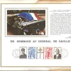 Sellos: EDITIONS CEF Nº 182 E EN HOMMAGE AU GENERAL DE GAULLE 1971. Lote 245895010