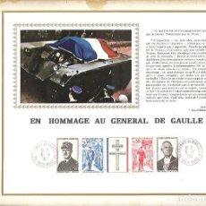 Sellos: EDITIONS CEF Nº 182 E EN HOMMAGE AU GENERAL DE GAULLE 1971. Lote 245895455