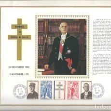 Sellos: EDITIONS CEF Nº 182 HOMMAGE AU GENERALE DE GAULLE 1971. Lote 245895770