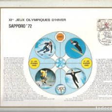 Sellos: EDITIONS CEF Nº 189 XI JEUX OLYMPIQUES D'HIVER SAPPORO 72 1972. Lote 245897750