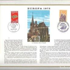 Sellos: EDITIONS CEF Nº 196 EUROPA 1972 LA CATHEDRALE D'AUX LA CHAPELLE 1972. Lote 245899075
