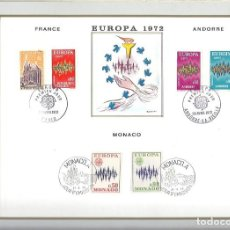 Sellos: EDITIONS CEF Nº 197 EUROPA FRANCE ANDORRE MONACO 1972. Lote 245899275
