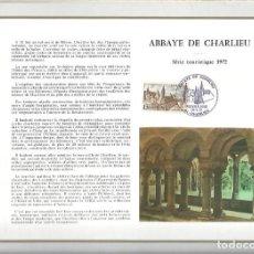 Sellos: EDITIONS CEF Nº 198 ABBAYE DE CHARLIEU SERIE TOURISTIQUE 1972. Lote 245899450