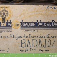 Selos: VIUDA DE JOAQUÍN VALDES DAVO .CREVILLENTE. Lote 246307620