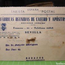 Sellos: FABRICA DE CAUCHO .SEVILLA 1941. Lote 246311235