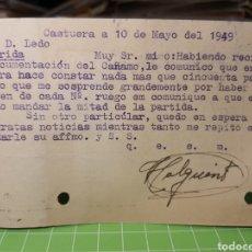 Selos: CAPTURA. BADAJOZ 1949. Lote 246331255