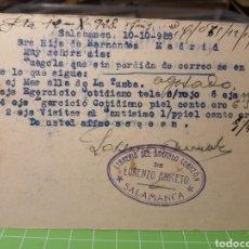 Selos: LORENZO ANICETO . SALAMANCA 1928. Lote 246333955