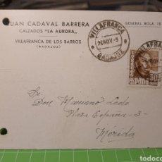 Selos: LA AURORA .VILLAFRANCA DE LOS BARROS .BADAJOZ 1955. Lote 246336545