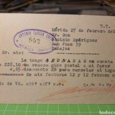 Selos: MERIDA BADAJOZ 1935. Lote 246341860