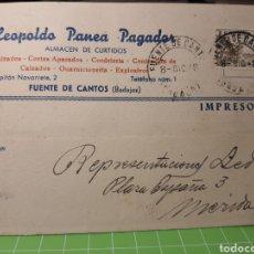 Selos: FUENTE DE CANTOS BADAJOZ 1948. Lote 246342275