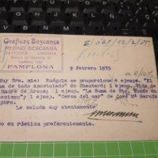 Francobolli: GRÁFICAS BESCANSA .PAMPLONA 1935. Lote 247776180