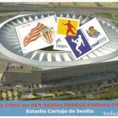 Selos: TARJETA POSTAL CONMEMORATIVA DE LA FINAL DE LA COPA DEL REY DE FUTBOL 2020. Lote 248596935