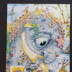 "Francobolli: TARJETA MÁXIMA AUSTRALIA - LIBRO COMIC ""LA SELVA MÁGICA"" BUNYIP CRIATURA MITOLÓGICA, BUNYIP 2002. Lote 249044485"