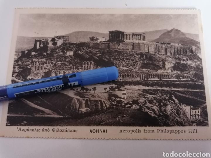 Sellos: ATENAS. GRECIA. ACROPOLIS. POSTAL A BARCELONA. 1931. 2 SELLOS - Foto 2 - 253956410