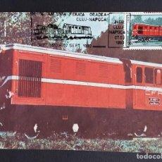 Sellos: TARJETA MÁXIMA RAIL TREN RUMANIA - LOCOMOTORA DIÉSEL L45H, CLUJ NAPOCA 1987-90. Lote 254258895