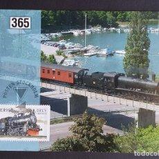 Sellos: TARJETA MÁXIMA RAIL TREN SUECIA - LOCOMOTORA A VAPOR, ESTOCOLMO 2006. Lote 254829135