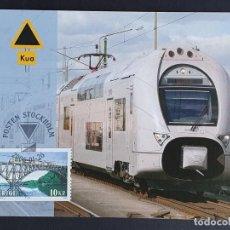Sellos: TARJETA MÁXIMA RAIL TREN SUECIA - TREN ELÉCTRICO X-40, ESTOCOLMO 2006. Lote 254830250