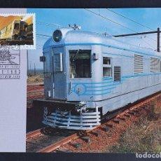 "Sellos: TARJETA MÁXIMA RAIL TREN AUSTRALIA - TREN DIESEL PASAJEROS ""WESTERN ENDEAVOUR"", NSW, HAYMARKET 1993. Lote 254856715"