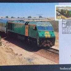 "Sellos: TARJETA MÁXIMA RAIL TREN AUSTRALIA - FERROCARRIL ADELAIDA-DARWIN ""THE GHAN"" NT, HAYMARKET 1993. Lote 254857325"
