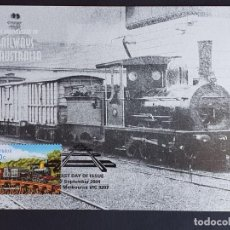 Sellos: TARJETA MÁXIMA RAIL TREN AUSTRALIA - B12 CLASS LOCOMOTIVE (HELIDON-TOOWOOMBA, 1867), MELBOURNE 2004. Lote 254857790