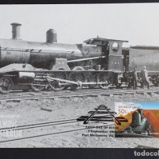 Sellos: TARJETA MÁXIMA RAIL TREN AUSTRALIA - G CLASS TRAIN (KALGOORLIE-PORT AUGUSTA, 1917), MELBOURNE 2004. Lote 254857820