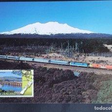 "Sellos: TARJETA MÁXIMA RAIL TREN NUEVA ZELANDA - ""THE OVERLANDER"" AUCKLAND - WELLINGTON, WANGUANI 1997. Lote 255004790"