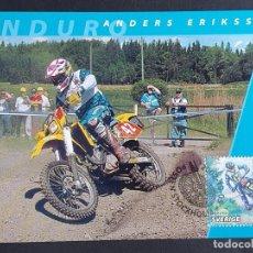 Sellos: TARJETA MÁXIMA DEPORTE SUECIA - MOTOCICLETAS: ANDERS ERIKSSON (ENDURO), ESTOCOLMO 2002. Lote 260016585
