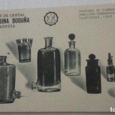 Sellos: ANTIGUA TARJETA POSTAL.JUAN ALSINA BOGUÑA.FABRICA CRISTAL.VALENCIA.MATASELLO TORRENTE 1960. Lote 260762395