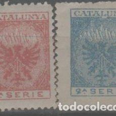Sellos: LOTE (6) VIÑETAS SELLOS CATALUÑA BARCELONA. Lote 261856255