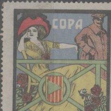 Selos: LOTE (7) VIÑETA SELLOS CATALUÑA BARCELONA MATARO 1910 COPA COCHES. Lote 261898005