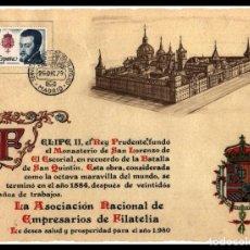 Sellos: FELICITACION DE NAVIDAD DE LA ASOCIACION NACIONAL DE EMPRESARIOS DE FILATELIA AÑO 1980 S/C. Lote 262114930