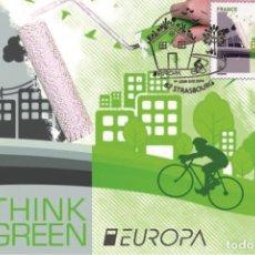 Sellos: FRANCE 2016 - EUROPA THINK GREEN CARTE MAXIMUM. Lote 262330440