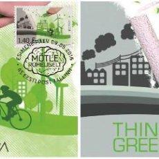 Sellos: ESTONIA 2016 - EUROPA THINK GREEN CARTE MAXIMUM SET. Lote 262330685